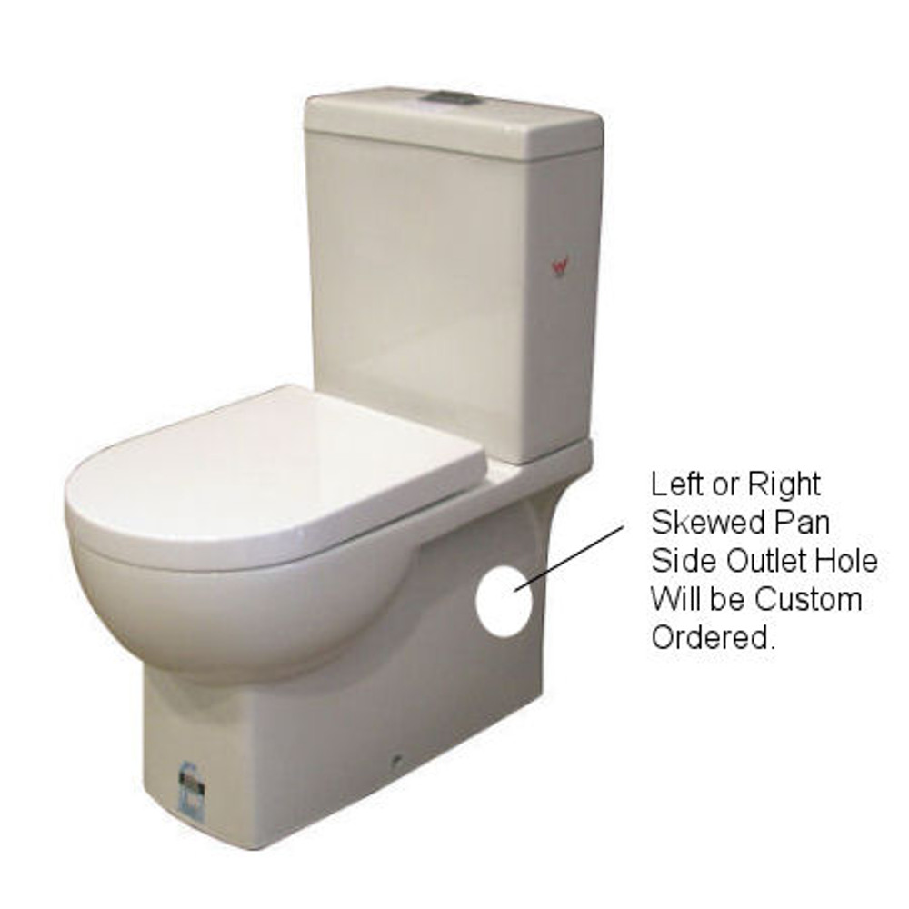 Normandy Venus Skew Toilet Suite - LEFT or RIGHT outlet