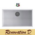 Cino  Puro CGS 130U 760 MM Undermount Single Bowl Granite Sink Black  White