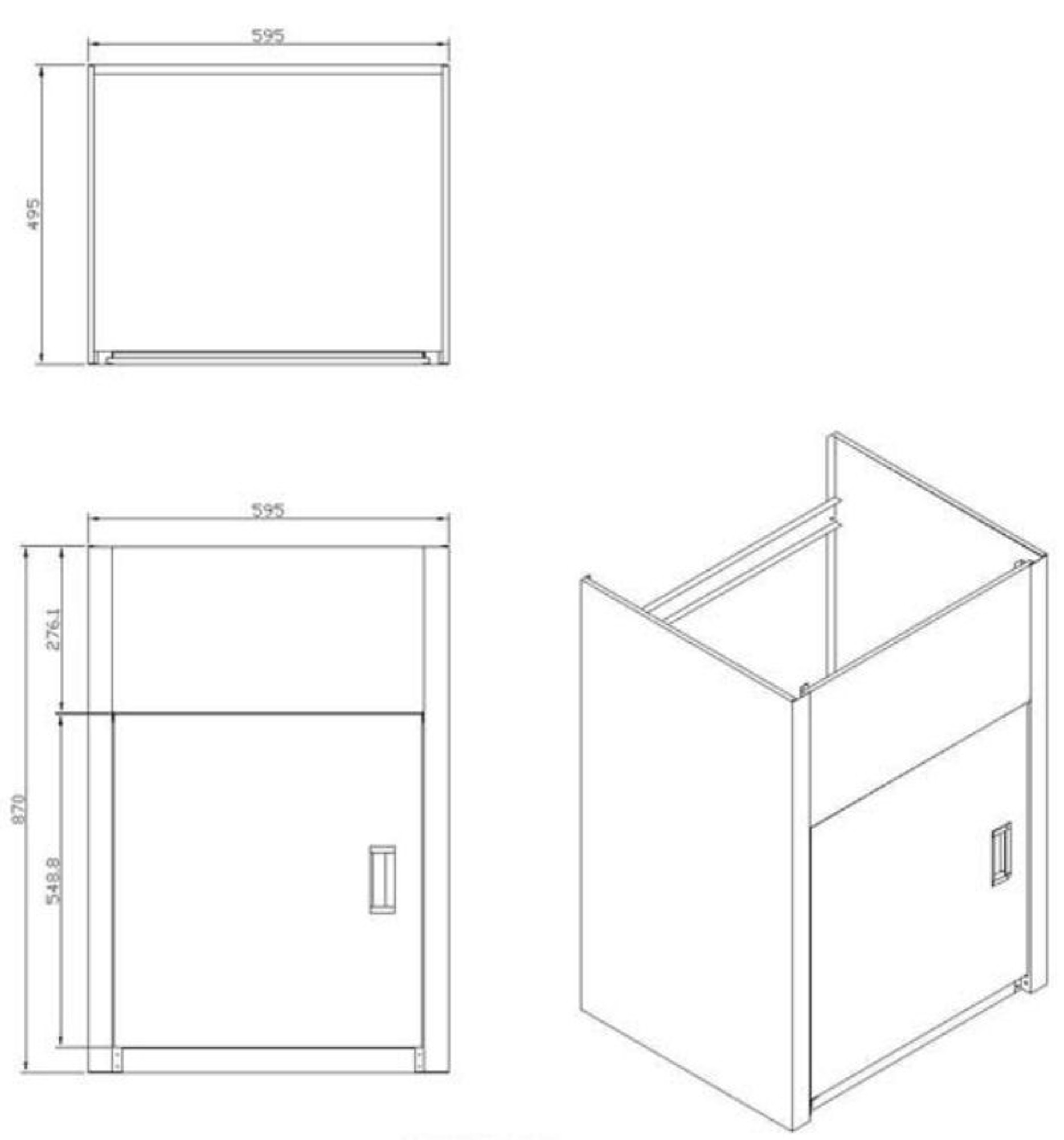 Project 45 Liter Laundry Sink Tub Cabinet (Sink + Cabinet