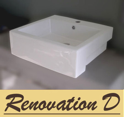 Rectangular Semi Recess Basin D281