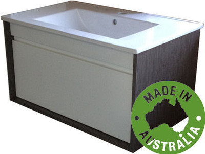 Panda Vanity with Stone Bench & Undermount Basin 750mm Wall Mounted WA
