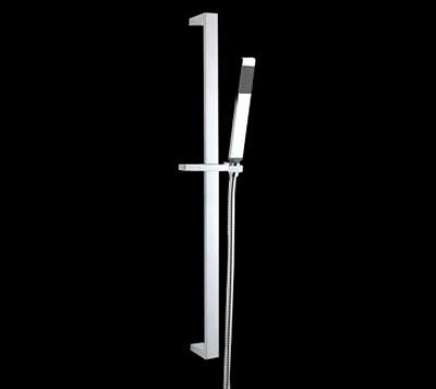 Square Shower Rail, solid brass rail, SRL-PBR02