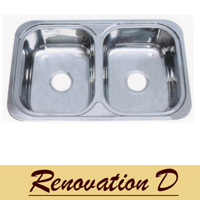 PROJECT Inset Kitchen Sink 780mm - Double Bowl