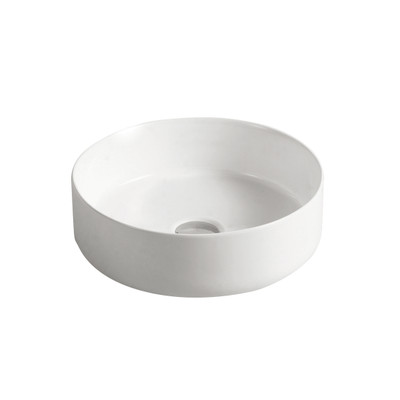 Gloss White 4mm Ultra Slim Round Ceramic Basin 3134