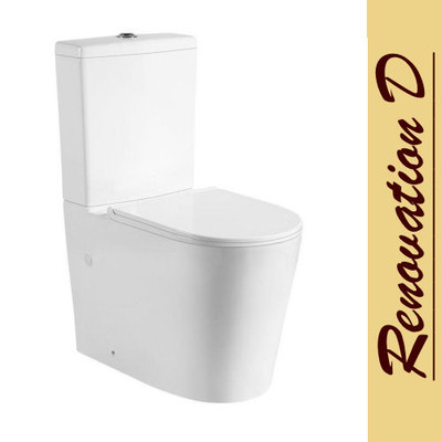 KEMP TWENTY-TWO Wall Faced Toilet Suite - Rimless