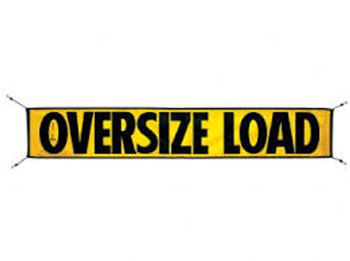 Mesh Oversize Load Sign w/ Bungees