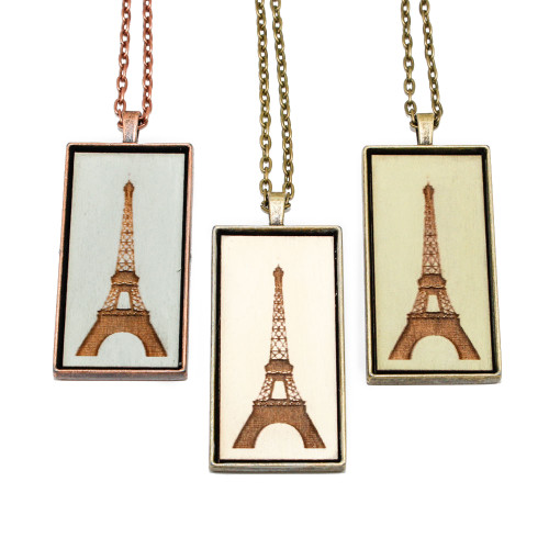 Large Cameo Pendant - Eiffel Tower
