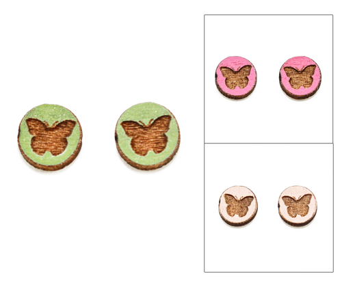 Cameo Post Earring - Butterfly