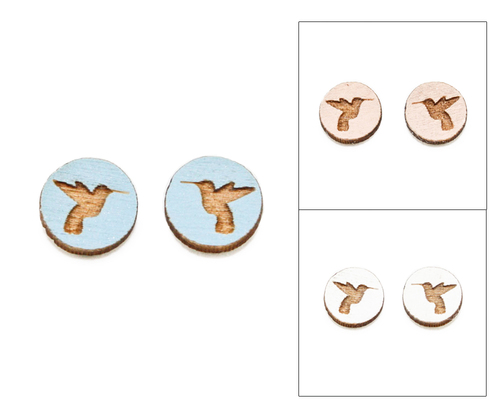 Cameo Post Earring - Hummingbird