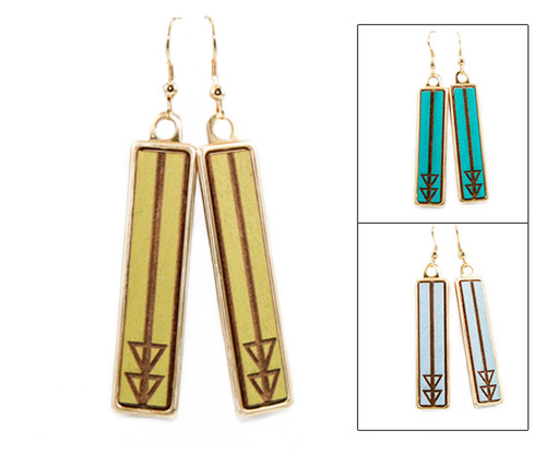 Geo Dangle Earring - Geometric Arrow (Split)