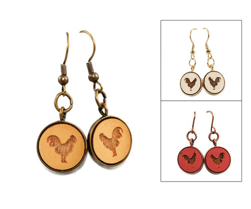 Small Dangle Earring - Rooster