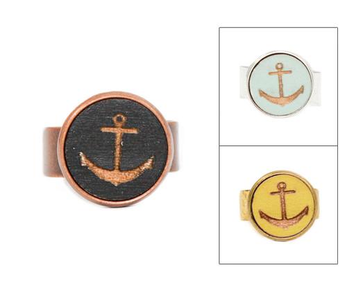 Small Cameo Ring - Anchor