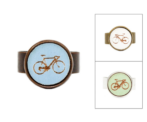 Small Cameo Ring - Bicycle