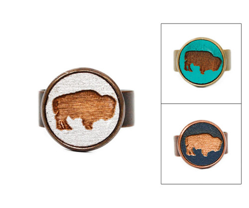 Small Cameo Ring - Buffalo
