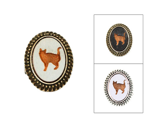 Large Cameo Ring - Cat (#8)