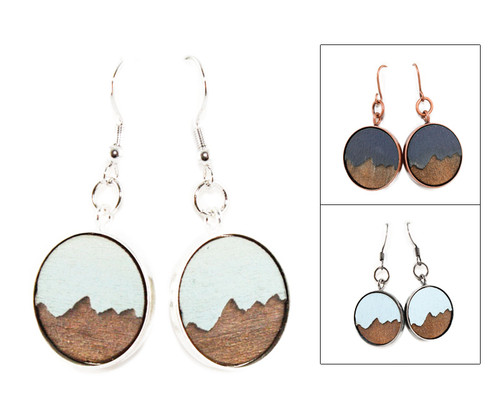 Dangle Earrings - Mountains
