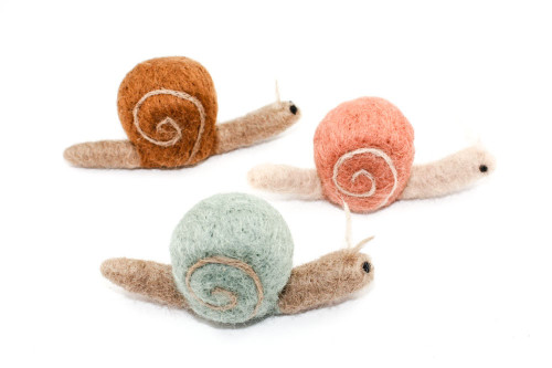 Needle Felted Snail (Choose Your Color)