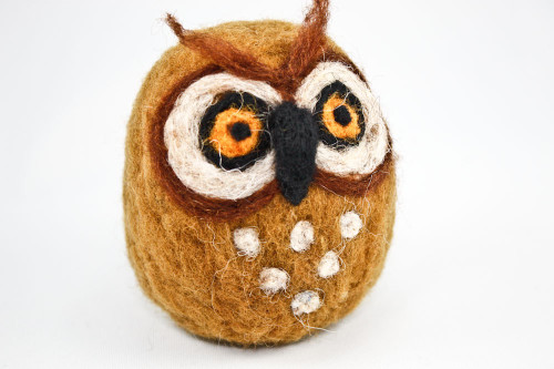 Needle Felted Owl (Sienna Brown)