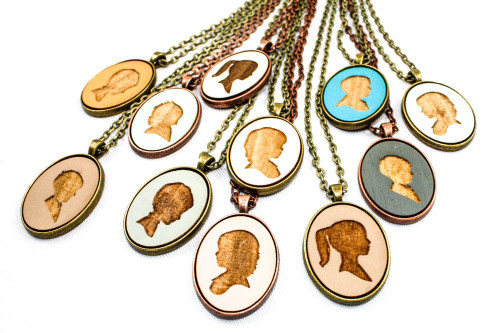 Custom Cameo Pendant - Children's Portrait