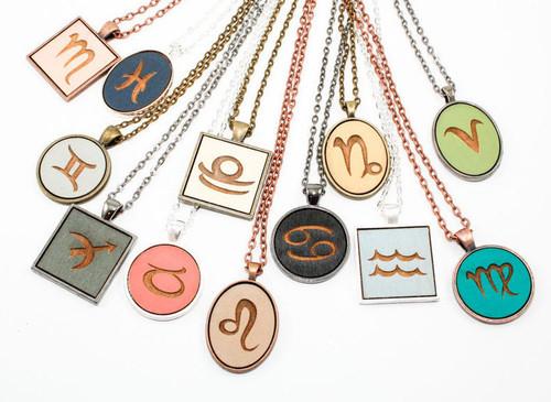 Custom Cameo Pendant - Zodiac Symbol / Astrological Sign