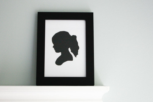Paper Cutout Portrait - Children's Silhouette (Black & White)