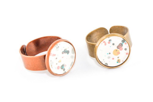 Splatter Painted Ring - Garden Party (Choose Your Setting)