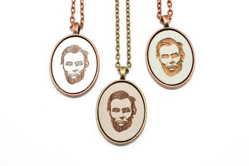 Small Cameo Pendant - Abraham Lincoln Portrait