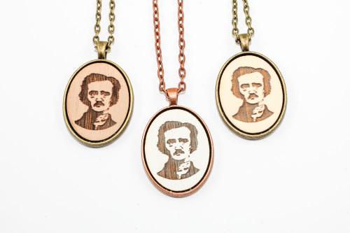 Small Cameo Pendant - Edgar Allan Poe