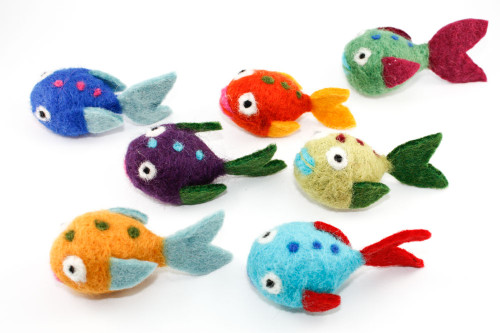 Needle Felted Fish (Choose Your Color)