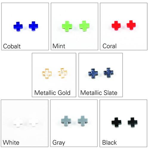 Acrylic Post Earrings - Geometric Cross Design