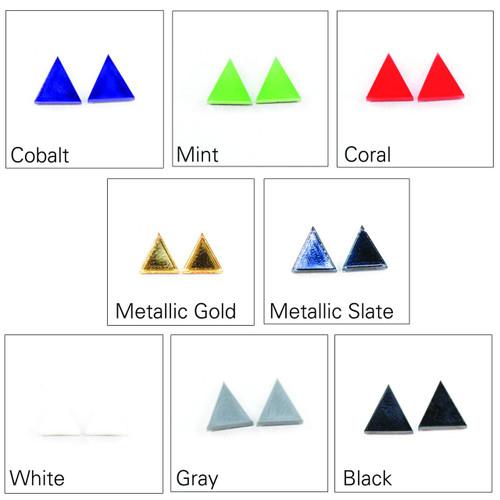 Acrylic Post Earrings - Geometric Triangle Design