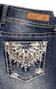Luscious Curvy Bling Skinny Jeans In Kimmy