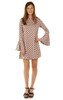 Bell Sleeve Dress In Pink