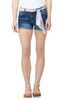Sky High-Waisted Belted Denim Shorts In Camila