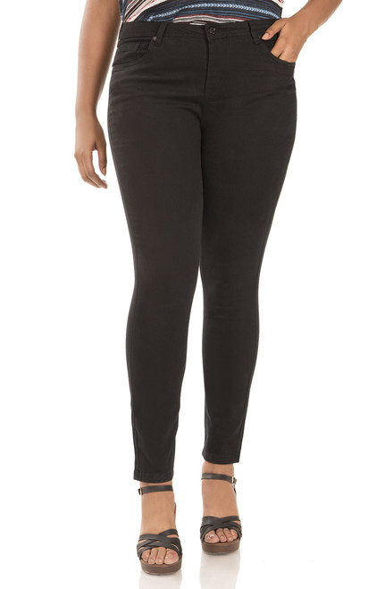 Plus Size Ultra Luxe Skinny Jeans In Black