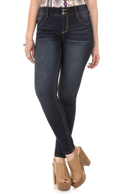 Push Up Curvy Skinny Jeans In Lake