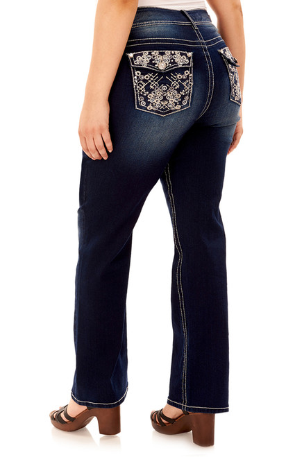 Plus Size Luscious Curvy Bling Bootcut Jeans In Amy