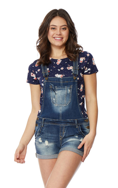 Denim Shortalls In Ashlee