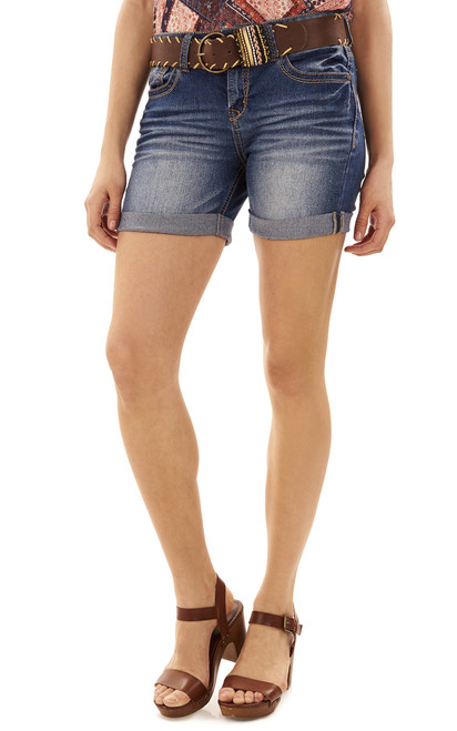 Belted Legendary Midthigh Shorts In Julia