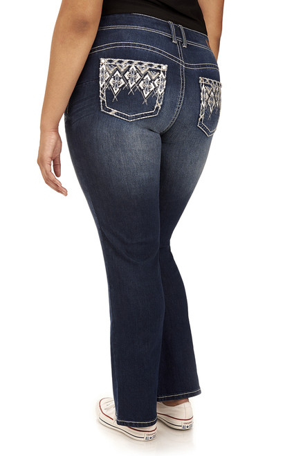 Plus Size Luscious Curvy Bling Push Up Bootcut In Wanda