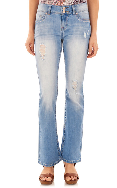 "Luscious Curvy Basic Bootcut Jeans (30-32"") In Cynthia"