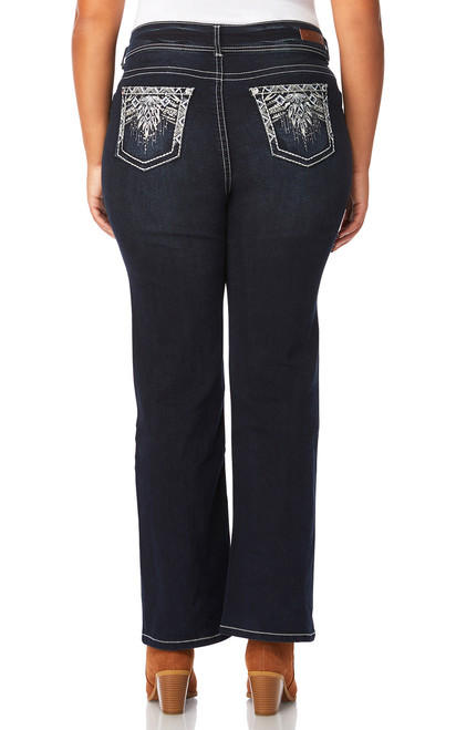 Plus Size Luscious Curvy Embellished Bootcut Jeans In Kaylee