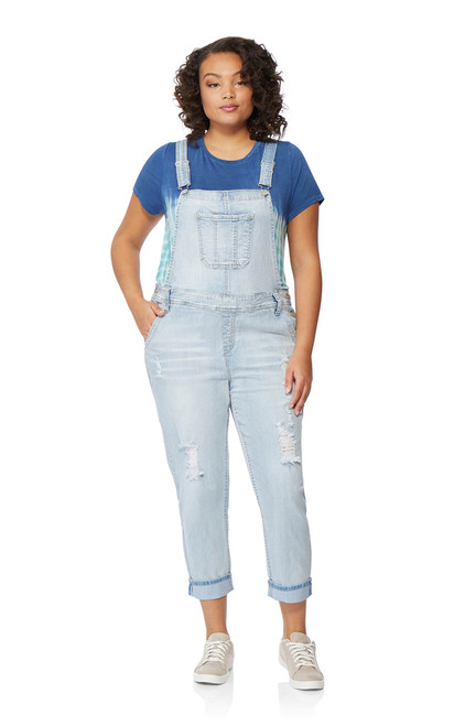Plus Size Denim Overalls In Samantha