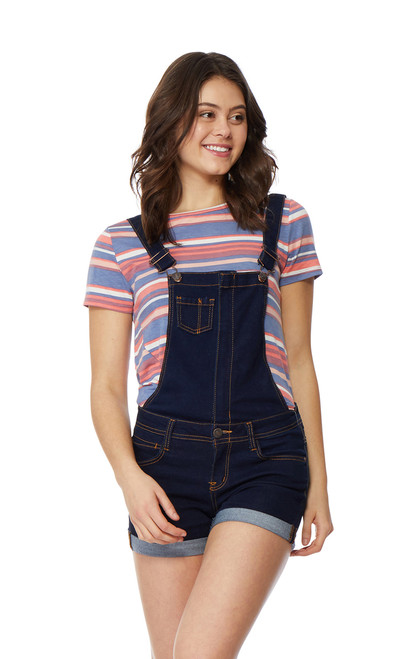 InstaSoft™ Denim Shortalls In Rinse