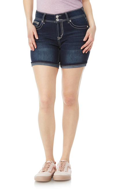 Luscious Curvy Embellished Midthigh Shorts In Betsy