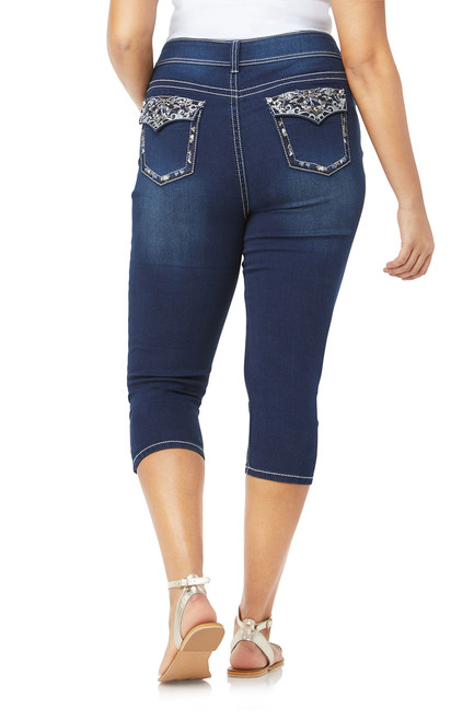 Plus Size Bling Luscious Curvy Capri In Cecille