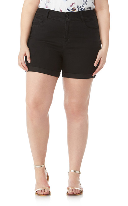 Plus Size Insta Soft Ultra Shorts In Black