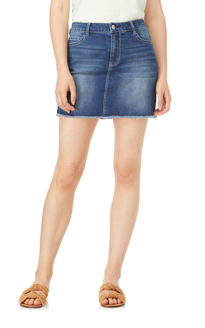 Denim Mini Skirt In Lizette