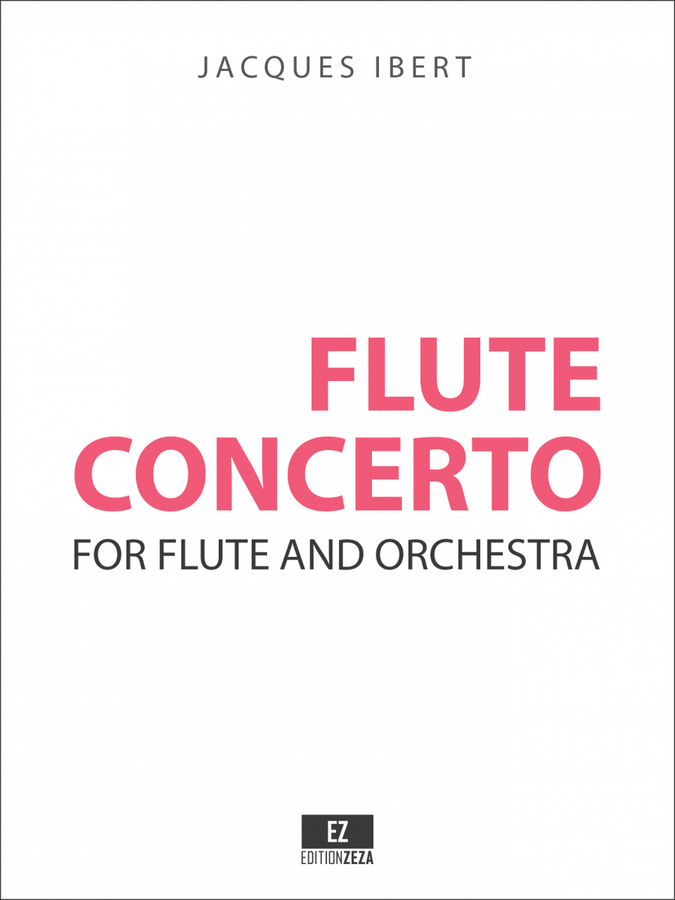 Ibert: Flute Concerto, Score and Orchestral Parts