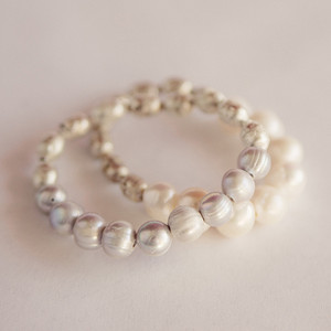 Prayer Bead and Pearl Stretch Bracelet